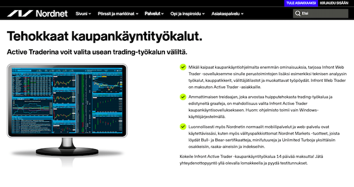 Kuvankaappaus Nordnetin sivulta.
